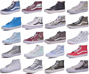 8dc81ff291 Vans Sk8 Hi Slim Skateboard Shoes Women Men Choose Colors   Sizes