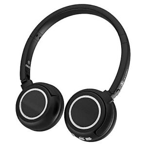 Image is loading Bingle-FB600-Black-Bluetooth-Headphones -with-Microphone-Headset 51aed1255d878