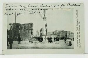 San-Francisco-Market-and-Powell-Ruins-showing-Flood-Building-1906-Postcard-I12