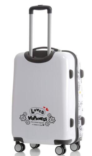 Valise de voyage trolley avec coquille dure de polycarbonate taille L motif Loves Happiness