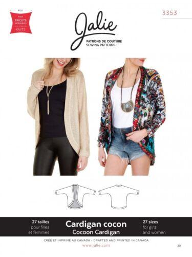 Jalie Ladies /& Girls Easy Sewing Pattern 3353 Cocoon Cardigan JALP3353