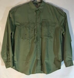 Redington-Brand-cape-back-Vented-Button-Front-Fishing-Shirt-Green-XL