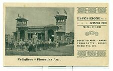 "ESPOSIZIONE INTERNAZ. ROMA 1911 ""Padiglione Florentina Ars"""