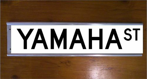 YAMAHA STREET SIGN ROAD BAR SIGN BIKE MOTOR CROSS