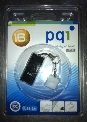 NEW ! P//N: 6819-016GR2002 PQI U819L 16GB USB 2.0 Black USB Flash Pen Drive