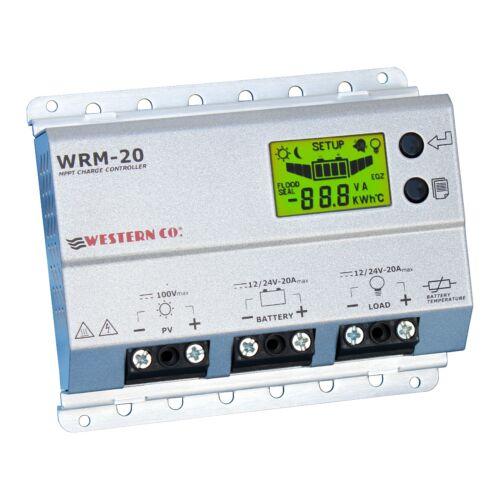 Bateau Véhicule Off-grille 20 A 12 V//24 V MPPT solar charge controller Western WRM20