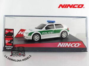 NINCO-50321-VW-GOLF-034-POLIZEI-034-SLOT-SCALEXTRIC-NUEVO