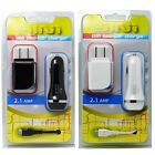 2.1 Car Charger & Wall Charger USB Cable For HTC myTouch 4G Slide Doubleshot