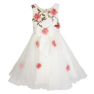 Detalles De Traje Niña Ceremonia Elegante Vestido Niña Bautismo Dama 2 Anni A 14