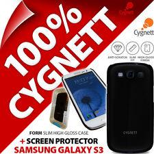 New Cygnett Form Black Gloss Case For Samsung i9300 Galaxy S3 + Screen Protector