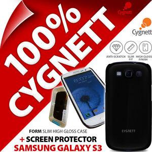 Neuf-Cygnett-Forme-Noir-Brillant-Etui-pour-Samsung-I9300-Galaxy-S3