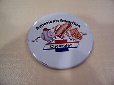 Baseball Hot Dogs Apple Pie Chevrolet pin--NOS
