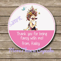 Fancy Nancy Party Favor Tags Girls Birthday Party 12 Per Set