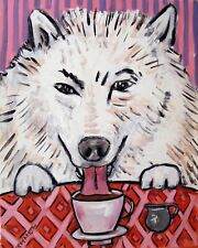 13x19 inch bengal cat  poster gift  american folk art modern piano GLOSSY PRINT