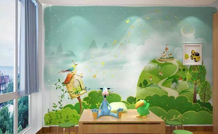 3D Cartoon landscape  WallPaper Murals Wall Print Decal Wall Deco AJ WALLPAPER
