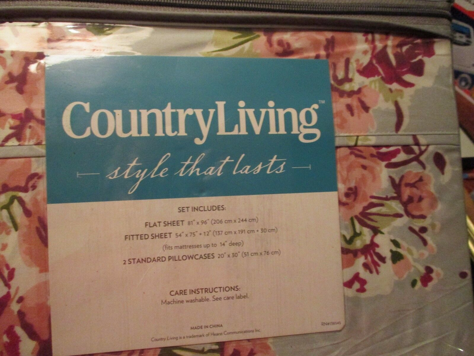 Country Living Sheet Set, Full size, Brand new.