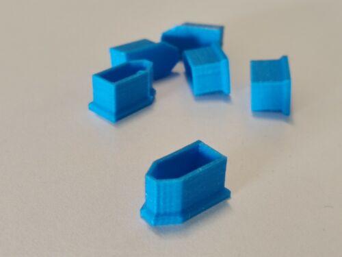 für LiPo und Co XT 60 Schutzkappen 6 Stück in blau