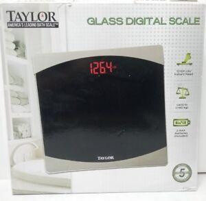 Taylor Glass Digital Bathroom Scale (7562) 400lbs
