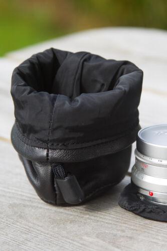MORBIDA pelle d/'agnello Telemetro custodia obiettivo per Leica M Lens Sistema