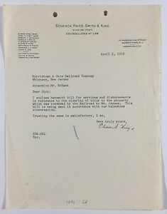 Details about Vintage Law Firm Letterhead To Morristown and Erie Railroad  Morristown NJ 1952