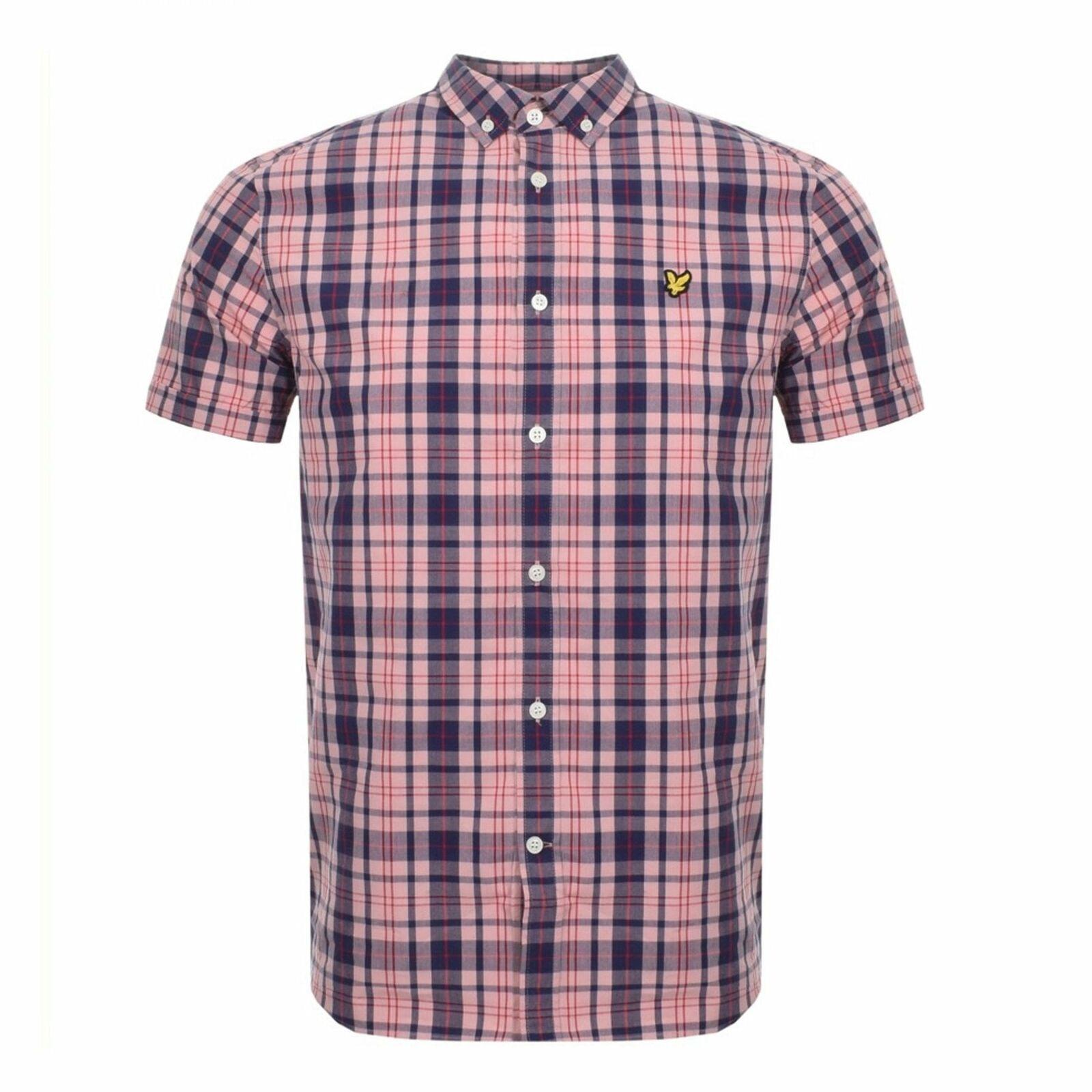 Lyle & Scott Corallo rosa Check camicia manica corta SW800V