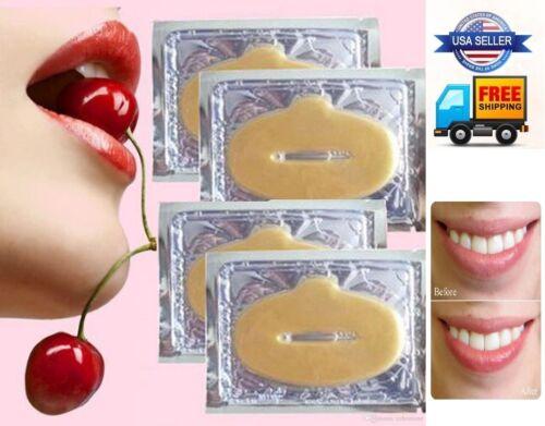 1-300 Pcs 24K Gold Moisturizing Gel Collagen Pilaten Lip Hydrating Face Mask Lot