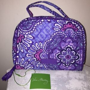 NEW VERA BRADLEY Travel Jewelry Organizer LILAC TAPESTRY Case Bag