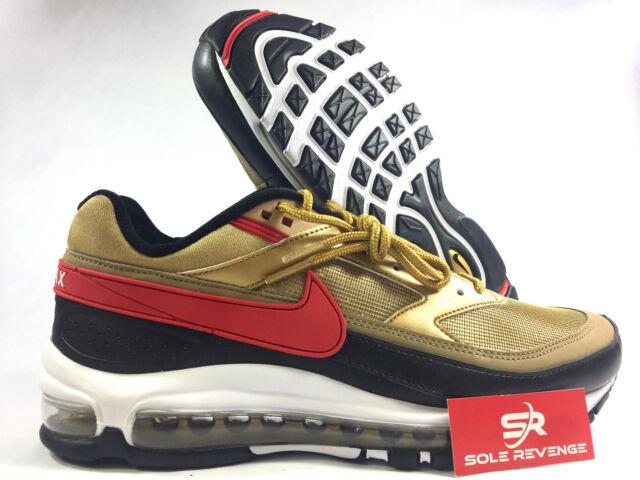 2018 Nike Air Max 97 Bw Sz 8 Metallic Gold University Red White