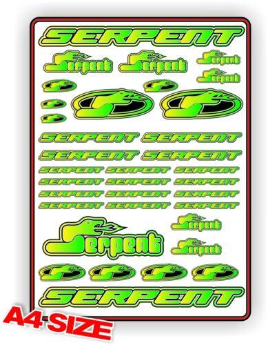 SERPENT STICKER SHEET RC CAR A4 747 977 VIPER COBRA S411 F110 S120 GREEN FADE