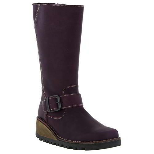 Oxygen Danube Womens Ladies Purple Wedge Mid Calf Zip Up Boots Size 4-8