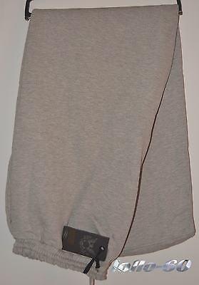 Pantalone FELPA uomo TAGLIE FORTI 3XL 4XL 5XL 6XL tuta invernale grigio chiaro