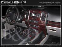 Dash Trim Kit For Ford F150 2015 Crew Cab / Wood Carbon Fiber Aluminum