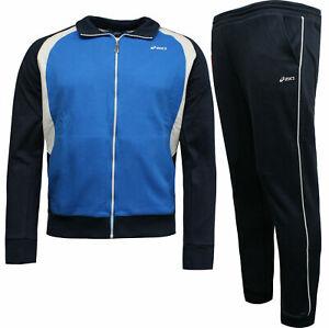 Details about Asics Tuta Fashion Mens Full Tracksuit Top Bottoms Set Blue Navy 7608A9 5ADB X57