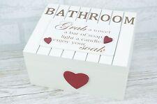 Shabby Chic Bathroom Storage Box Shower Accessories Guest Toiletries f1113b-W4