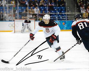 Team-USA-James-Van-Riemsdyk-Autographed-Signed-8x10-Photo-COA