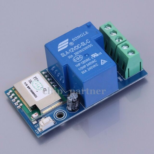 DC 12V Wireless Wifi Relay Switch Module Phone Remote Control Timer Self-Lock