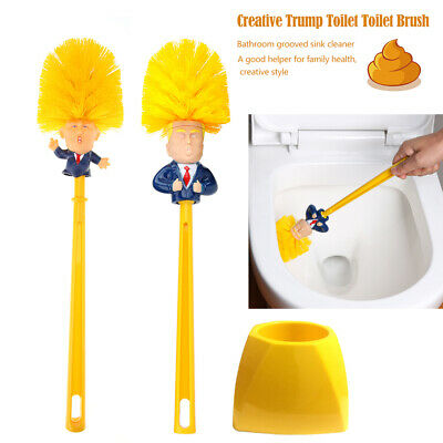 President-Donald-Trump-Toilet-Brush-Base-Funny-Gag-Gift-Toilet-Brush-Bowl-Brush