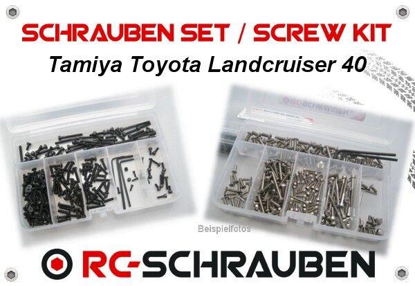 Set di viti per il TAMIYA cr-01 TOYOTA LANDCRUISER 40-acciaio inox & acciaio