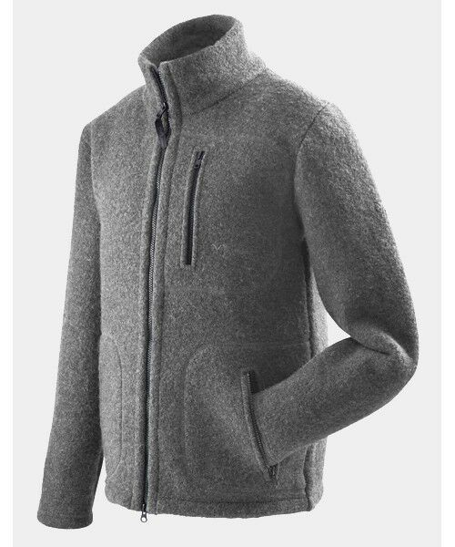 Mufflon Klaas, Woollen Cardigan for Men, Merino Wool, Grey - Grey, S