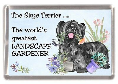 """Border Terrier Dog Fridge Magnet /""""Greatest Landscape Gardener/"""" by Starprint"""