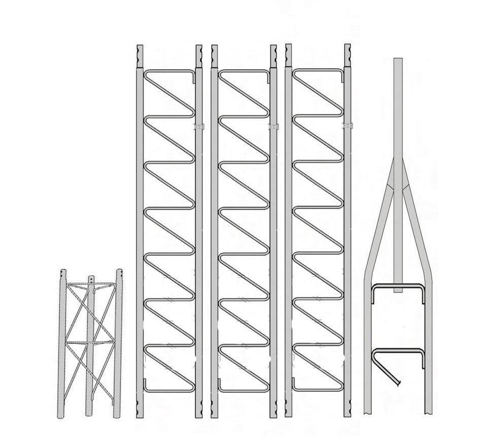 antennapartsoutlet1 Rohn 25G Basic 40' Tower with 3' 4 SB25G Concrete Base