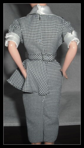 DRESS  MATTEL BARBIE DOLL I LOVE LUCY TV HOUNDSTOOTH COCKTAIL BUSINESS DRESS