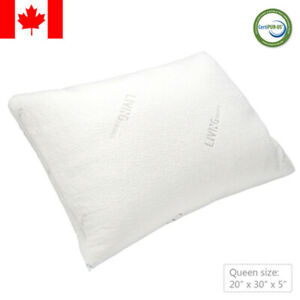 Shredded-Memory-Foam-Pillow-with-washable-removable-cooling-cover-Queen-size