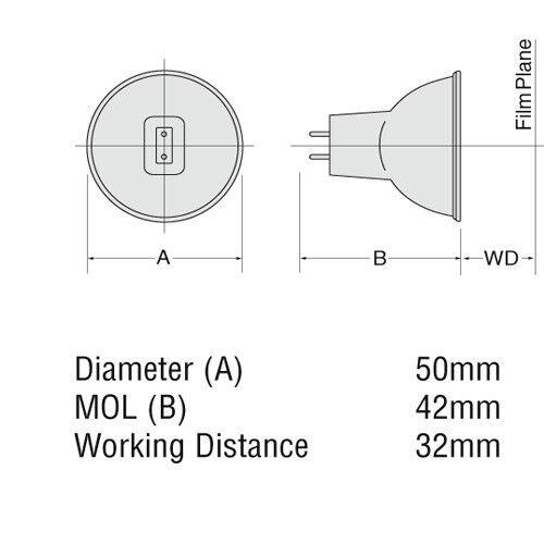12V-100W 3400K Reflector Halogen Lamp USHIO 100W 12v MR16 EFP