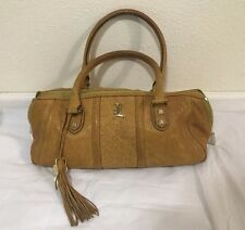 L.A.M.B. Tote Purse Handbag Beautiful Brown Leather