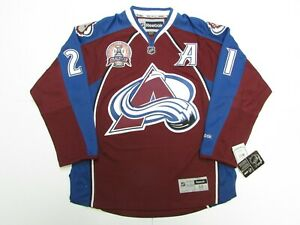 PETER FORSBERG COLORADO AVALANCHE HOME 2001 STANLEY CUP REEBOK HOCKEY JERSEY
