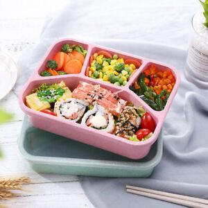 4-Compartiments-Boite-A-Repas-Gouter-Dejeuner-Bento-Lunch-Box-Isotherme-Cuillere