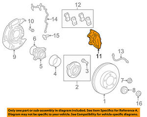 details about toyota oem 07 15 tundra front brake disc caliper 477300c030 Tundra Diagram Projects