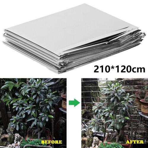 Pellicola Riflettente impianto luce Grow Serra Giardino Veranda Copertura Foglio Stagnola UK