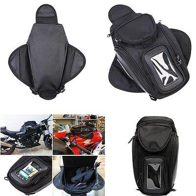 Motorcycle Oil Fuel Tank Bag Magnetic Motorbike Riding Bag Black Waterproof